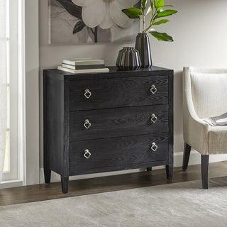 Madison Park Filbert Black Wood 3-drawer Dresser