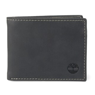 Timberland Men's Bifold Genuine Leather Passcase Wallet