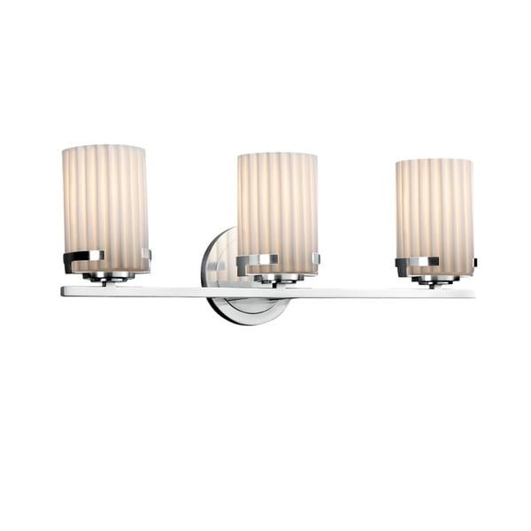 Cylinder with Flat Rim Translucent Porcelain Shade with Waves ...