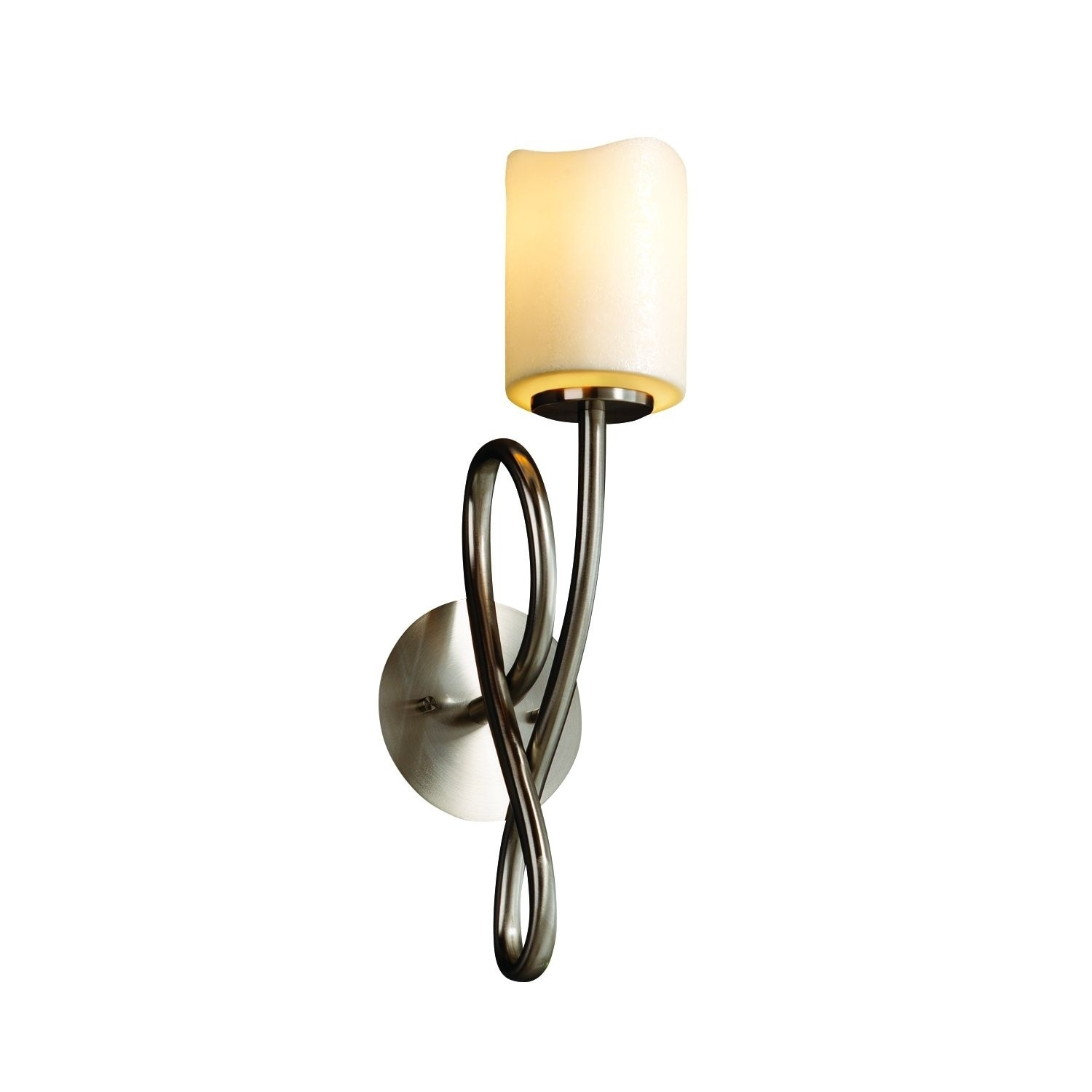 Justice Design Group CandleAria Capellini 1-light Brushed...