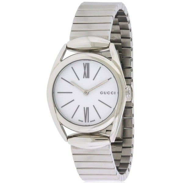 d07b961b98680 Shop Gucci Horsebit Stainless Steel Ladies Watch - Free Shipping Today -  Overstock - 17352816