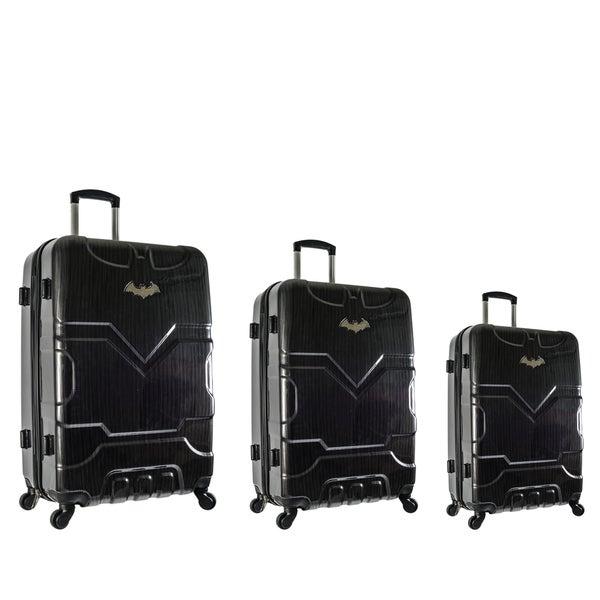 Shop DC Comics Batman Black 3-piece Hardside Spinner Luggage Set ... 01c5302653e24