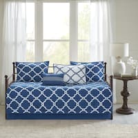 Madison Park Essentials Cole Navy Reversible 6 Pieces Printed Daybed Set