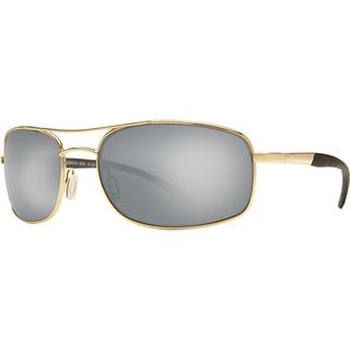 Costa Del Mar Seven Mile Gold Frame Polarized Silver 580G Lens Sunglasses