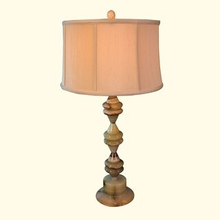 """30.5"""" Tall Onyx Table Lamp """"Saturnia"""" with Linen Shade, Chartreuse"""