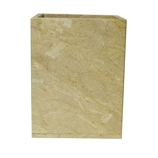 Marble Wastebasket, Golden Wheat