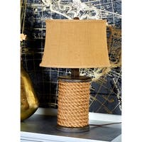 Studio 350 Set of 2, Wood Rope Table Lamp 24 inches high