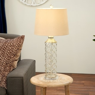 Studio 350 Set of 2, Metal Glass Table Lamp 30 inches high