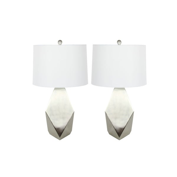 Studio 350 Set of 2, Metal Table Lamp 28 inches high