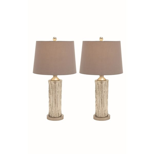 Studio 350 Set of 2, Glass Stainless Steel Table Lamp 27 inches high