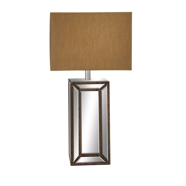 Studio 350 Wood Mirror Table Lamp 32 inches high