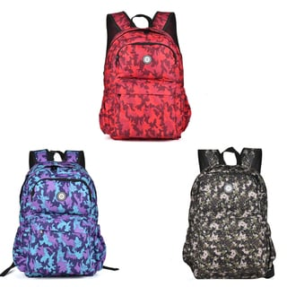Hakbaho Jewelry Sporty Camo Canvas Backpack
