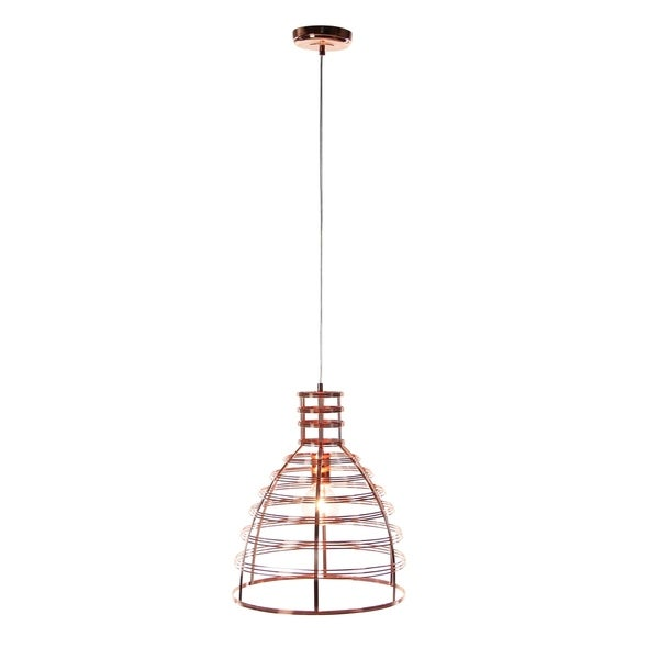 Contemporary 18 X 13 Inch Iron Bell Pendant With Bulb by Studio 350