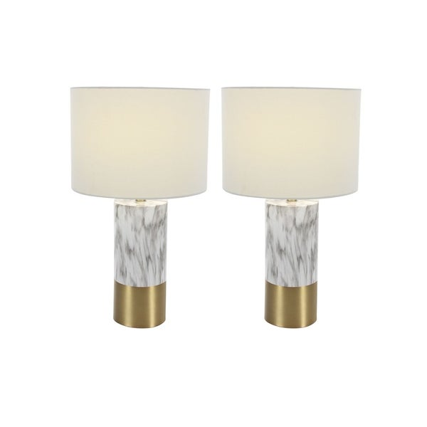 Studio 350 Set of 2, Metal PS Table Lamp 24 inches high