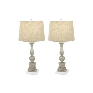 Studio 350 Set of 2, PS Marble Table Lamp 30 inches high
