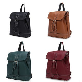 Hakbaho Jewelry Synthetic Leather Toggle Clasp Flap-over Fashion Backpack|https://ak1.ostkcdn.com/images/products/17353530/P23596248.jpg?impolicy=medium