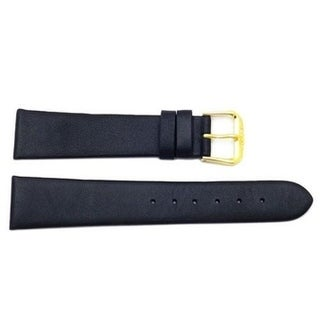 22mm Flat Smooth Leather Watch Band