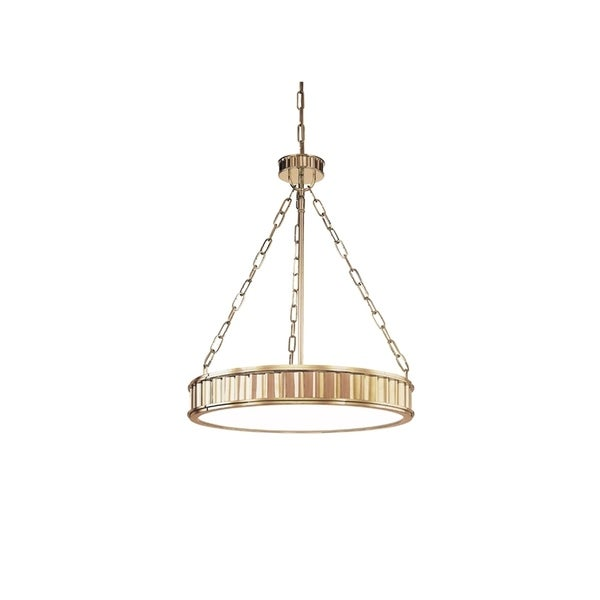Hudson Valley Middlebury Aged Brass Metal 5-light Pendant