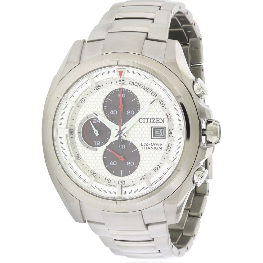 Citizen Eco-Drive Titanium Chronograph Mens Watch CA0550-...