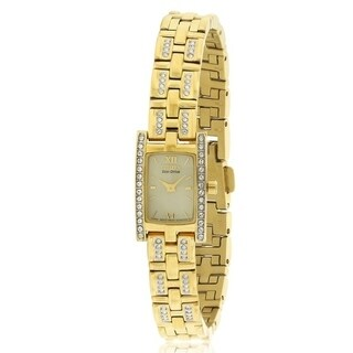 Citizen Eco-Drive Silhouette Swarovski Elements Ladies Watch EG2352-52P