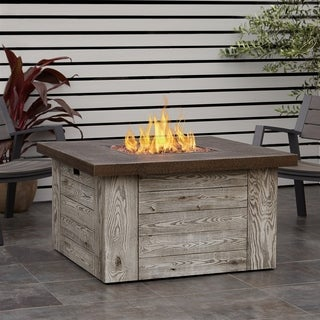 Forest Ridge Gas Fire Table Weathered Gray by Real Flame