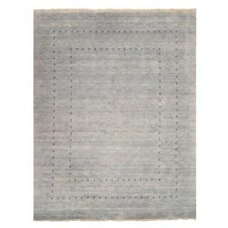 Handmade Wool Gray Traditional Solid Lori Baft Rug - 3' x 5'