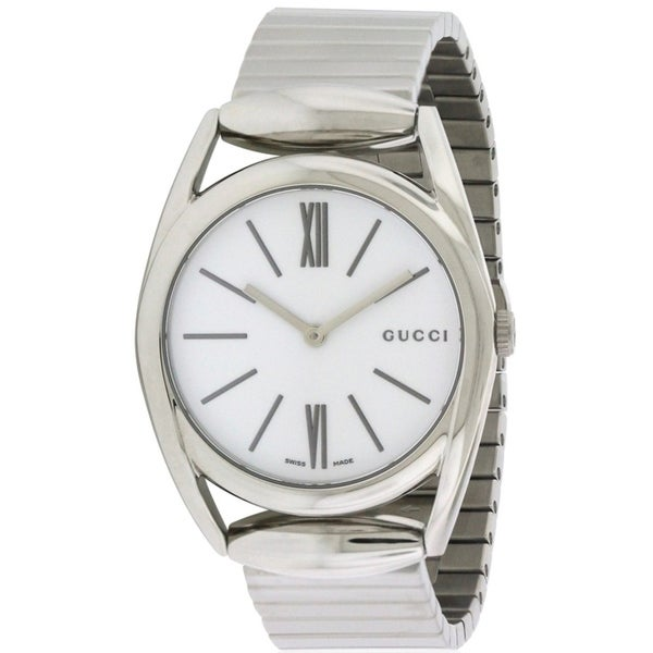 a23c47f5130c2 Shop Gucci Horsebit Stainless Steel Ladies Watch YA140405 - Free Shipping  Today - Overstock - 17353794
