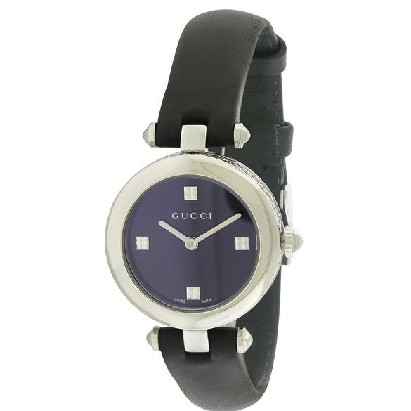 5a7f10d2347 Shop Gucci Diamantissima Leather Ladies Watch YA141506 - Free Shipping Today  - Overstock - 17353811