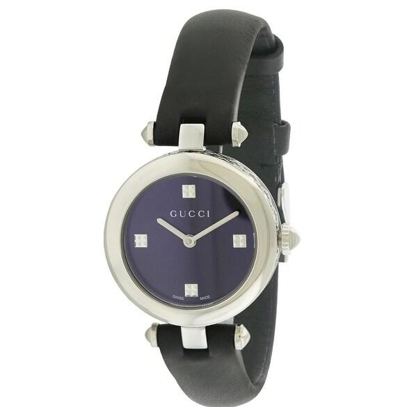 Gucci Diamantissima Leather Ladies Watch YA141506, Black,...