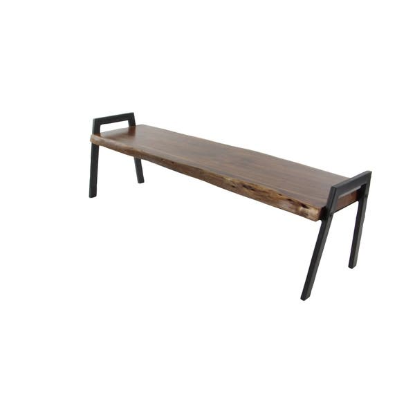 Super Shop Farmhouse 18 X 70 Inch Rectangular Brown Wooden Bench Onthecornerstone Fun Painted Chair Ideas Images Onthecornerstoneorg