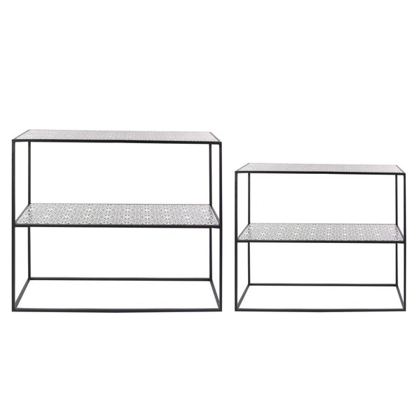 Studio 350 Metal Wood Consol Table Set of 2, 35 inches, 39 inches wide