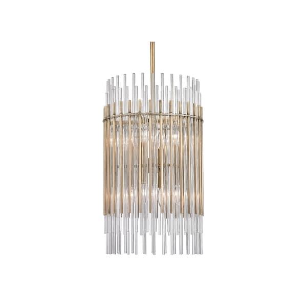 Hudson Valley Wallis Aged Brass Metal 15 inch Pendant