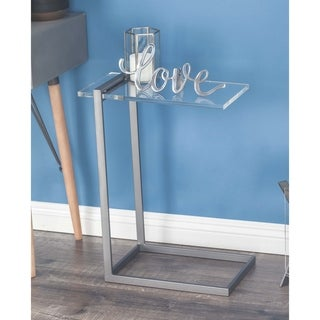 Studio 350 Metal Acrylic Accent Table 18 inches wide, 24 inches high