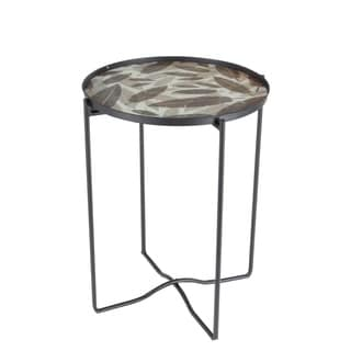 Studio 350 Metal Glass Accent Table 19 inches wide, 24 inches high