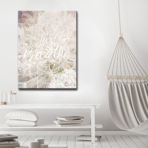 Olivia Rose 'Just Breathe' Inspirational Canvas Art