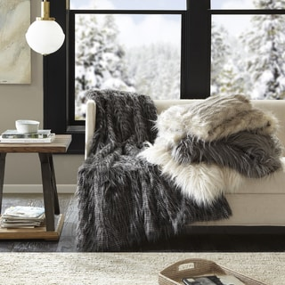 Link to Madison Park Adelaide Year Round Premium Luxury Faux Fur Throw Similar Items in Decorative Accessories