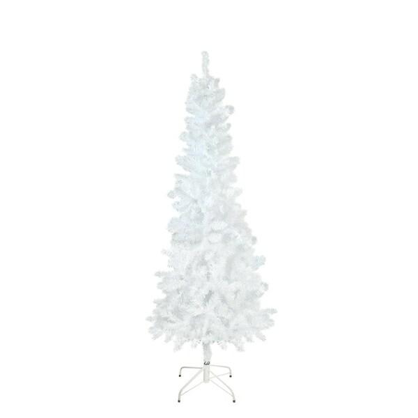75 x 34 white glimmer iridescent spruce pencil artificial christmas tree - Iridescent Christmas Tree Decorations