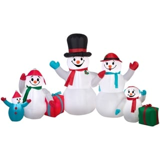 Christmas Airblown Inflatable Winter Snowman Collection Scene