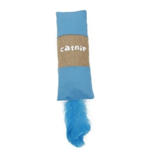 Pet Life Rectangular Duffle Crinkle Plush Teaser Catnip Cat Toy (2 options available)