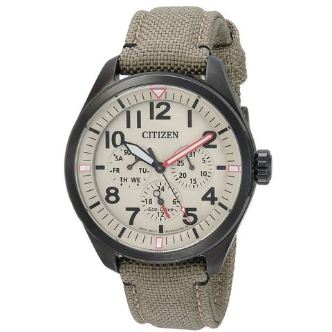 Citizen Eco-Drive Chandler Military Nylon Mens Watch