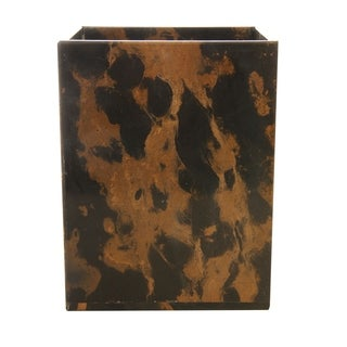 Marble Wastebasket, Black & Brown