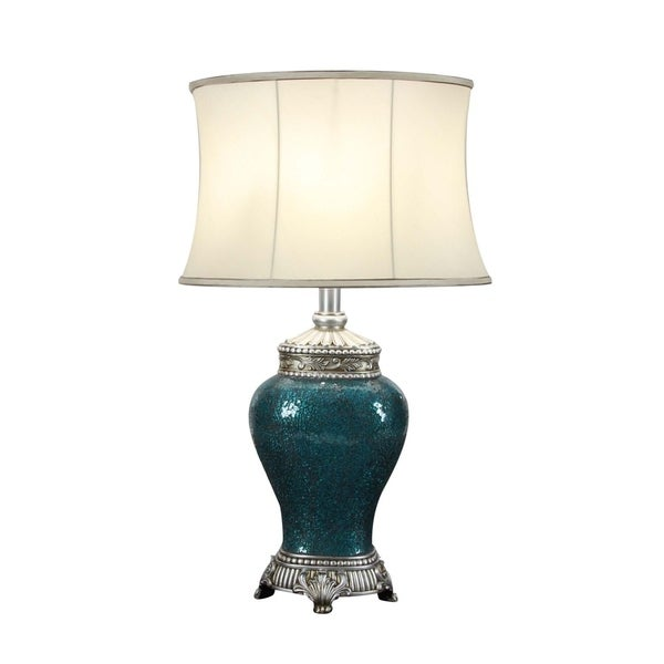 Studio 350 PS Mosaic Oval Table Lamp 31 inches high