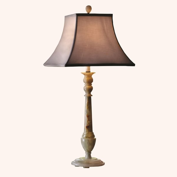 325 tall onyx table lamp southern winter with linen shade 325 tall onyx table lamp southern winter with linen shade chartreuse mozeypictures Images
