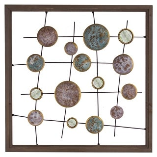 Metal and Mirror Framed Wall Decor