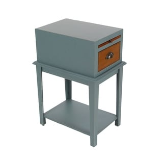 Studio 350 Wood Grey Side Table 13 inches wide, 26 inches high