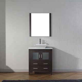 Virtu USA Dior 30-inch White Stone Single Bathroom Vanity Set with Faucet Options