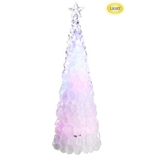 "18.5"" Icy Crystal Cone Tree Multi Color LED Lighted Christmas Tree Figure"