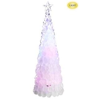 "18.5"" Icy Crystal Cone Tree Multi Color LED Lighted Christmas Tree Figure"