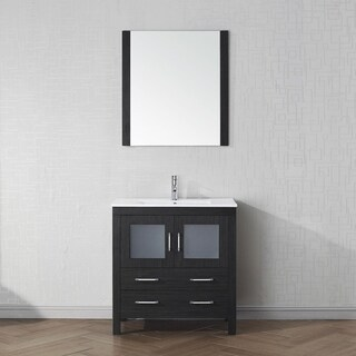 Virtu USA Dior 32-inch Ceramic Single Bathroom Vanity Set with Faucet Options