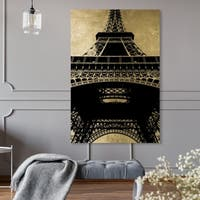 Oliver Gal 'Eiffel Tower Gold Sky' Canvas Art